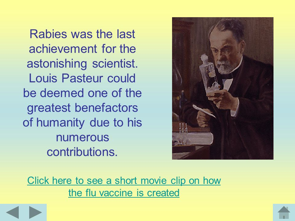 On July 6 1885, Pasteur tested his new rabies vaccine on man for the first time. Joseph Meister was a young man who had been bitten by a rabid dog. Ur