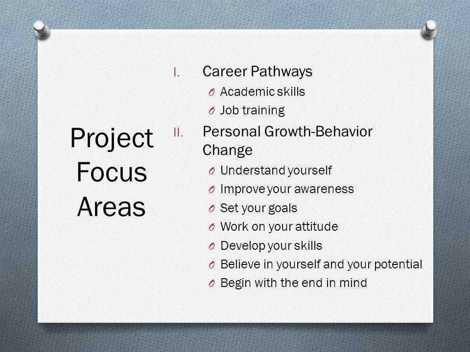 I. Career Pathways O Academic skills O Job training II.