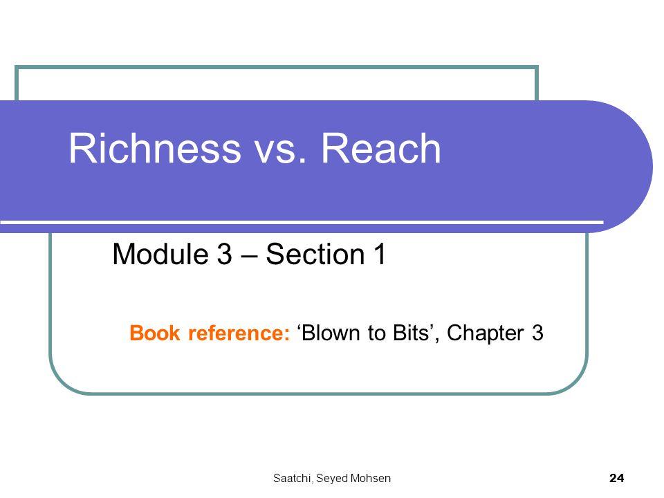 Saatchi, Seyed Mohsen 24 Richness vs.
