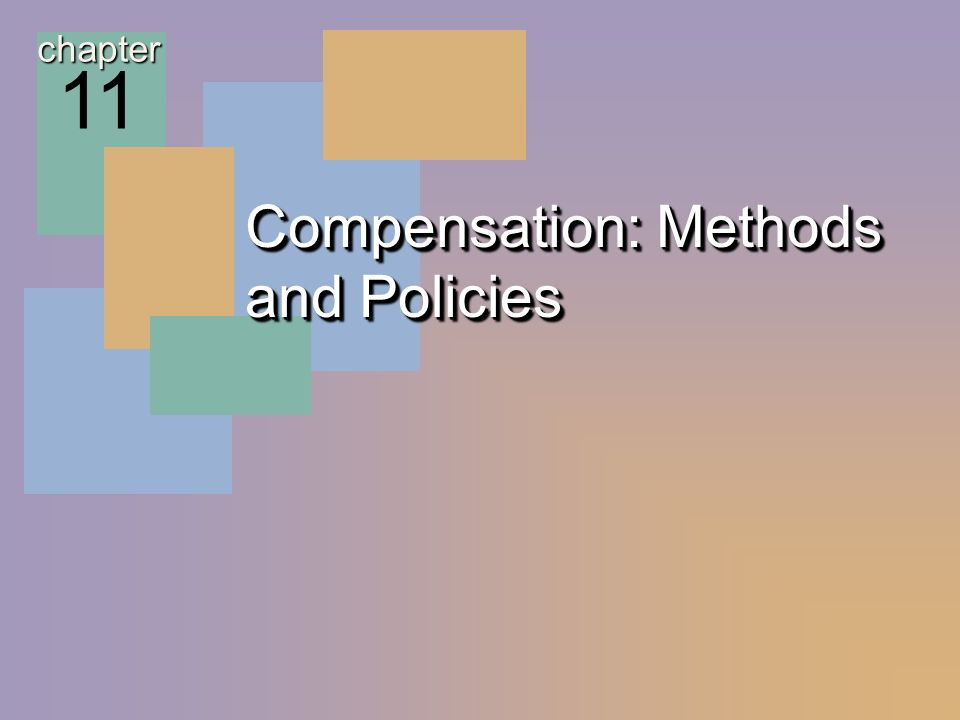 McGraw-Hill/Irwin © 2004 The McGraw-Hill Companies, Inc. All rights reserved. 11 - 2 Compensation: Methods and Policies chapter 11
