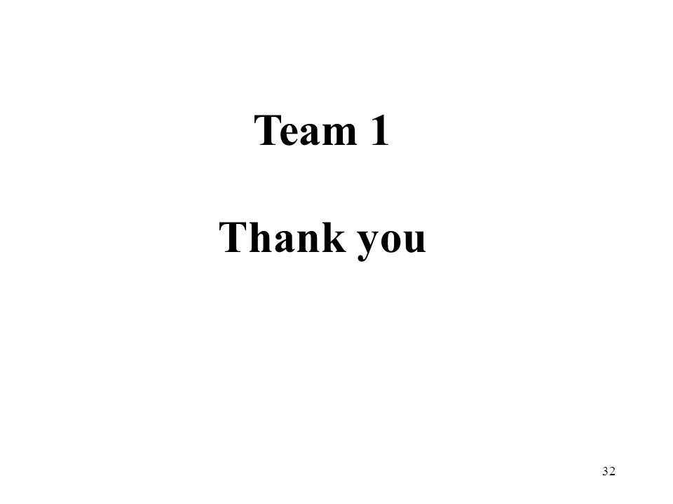 32 Team 1 Thank you