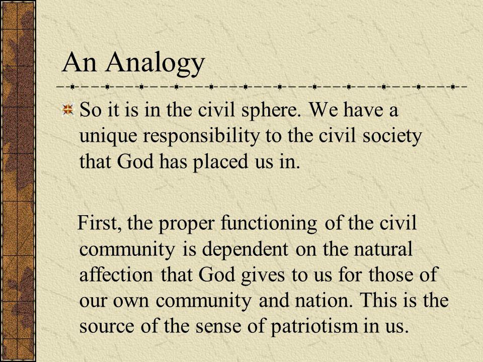 So it is in the civil sphere.