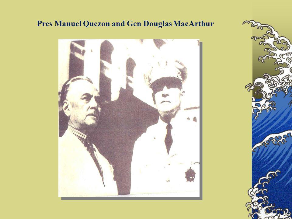 Pres Manuel Quezon and Gen Douglas MacArthur