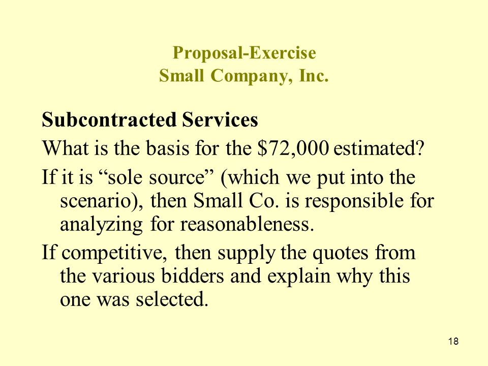 17 Small Company, Inc. Proposal for Technical Support Services Schedule 1 Note 1: Hours are based on Contract XYZ which was performed in FY 2001 and w
