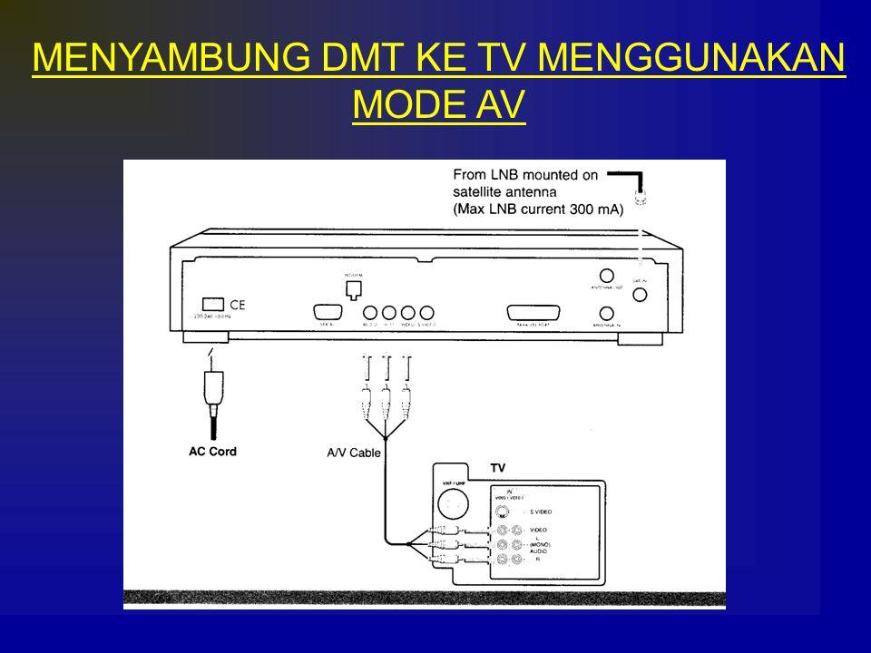 MENYAMBUNG DMT KE TV MENGGUNAKAN MODE AV