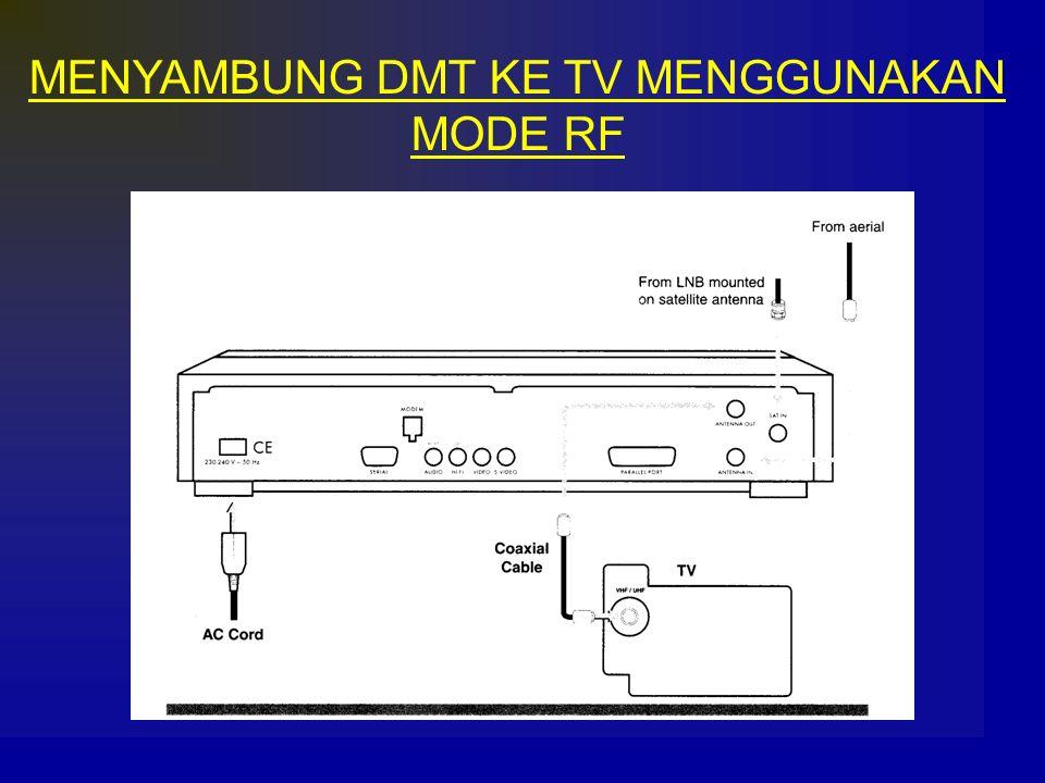 MENYAMBUNG DMT KE TV MENGGUNAKAN MODE RF