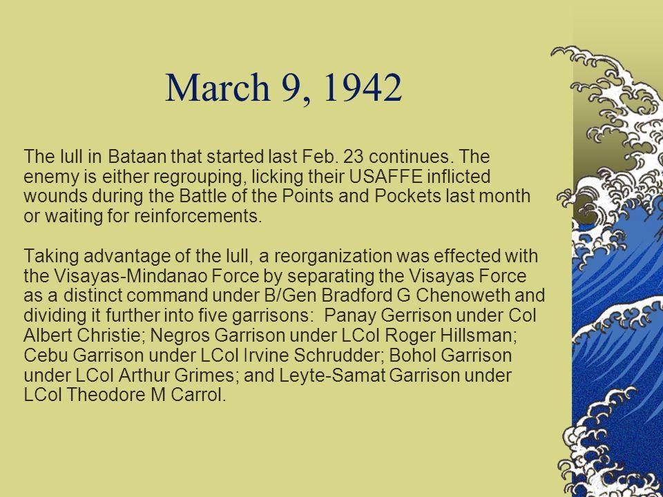 Journal of Commodore Ramon A. Alcaraz March 1942