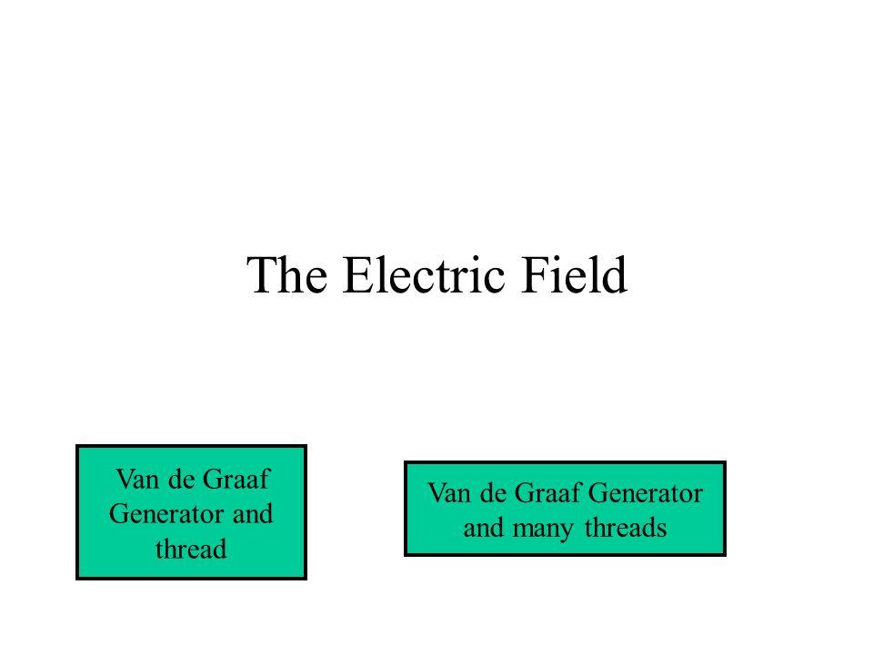 The Electric Field Van de Graaf Generator and thread Van de Graaf Generator and many threads