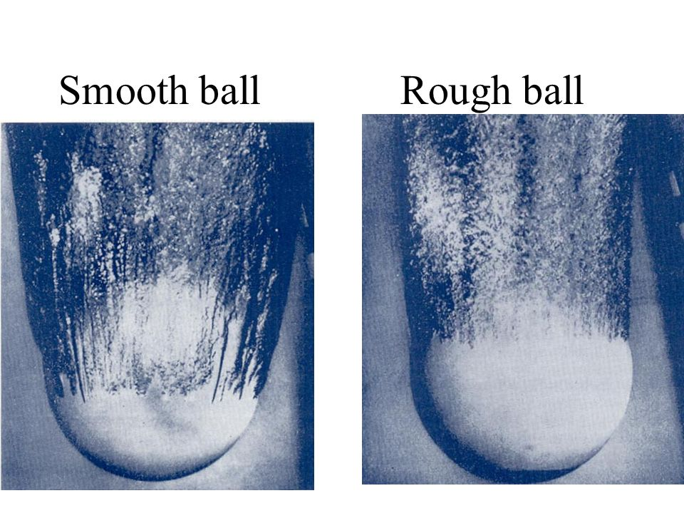 Smooth ballRough ball