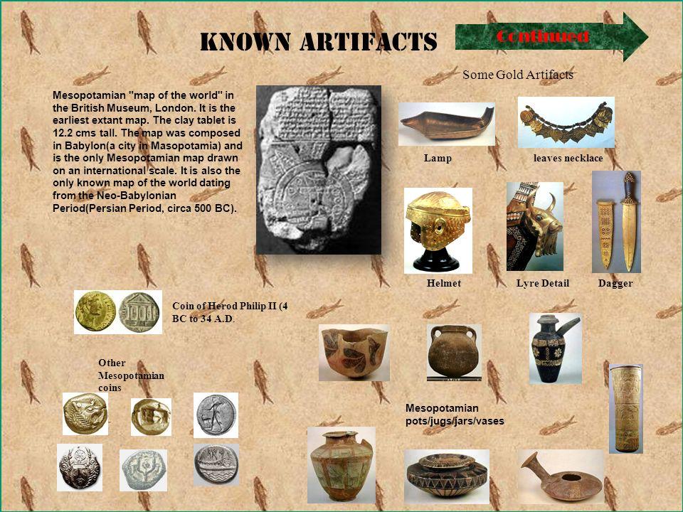 Known Artifacts Mesopotamian