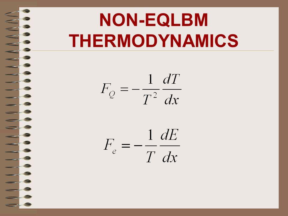 NON-EQLBM THERMODYNAMICS