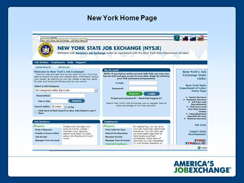 New York Home Page