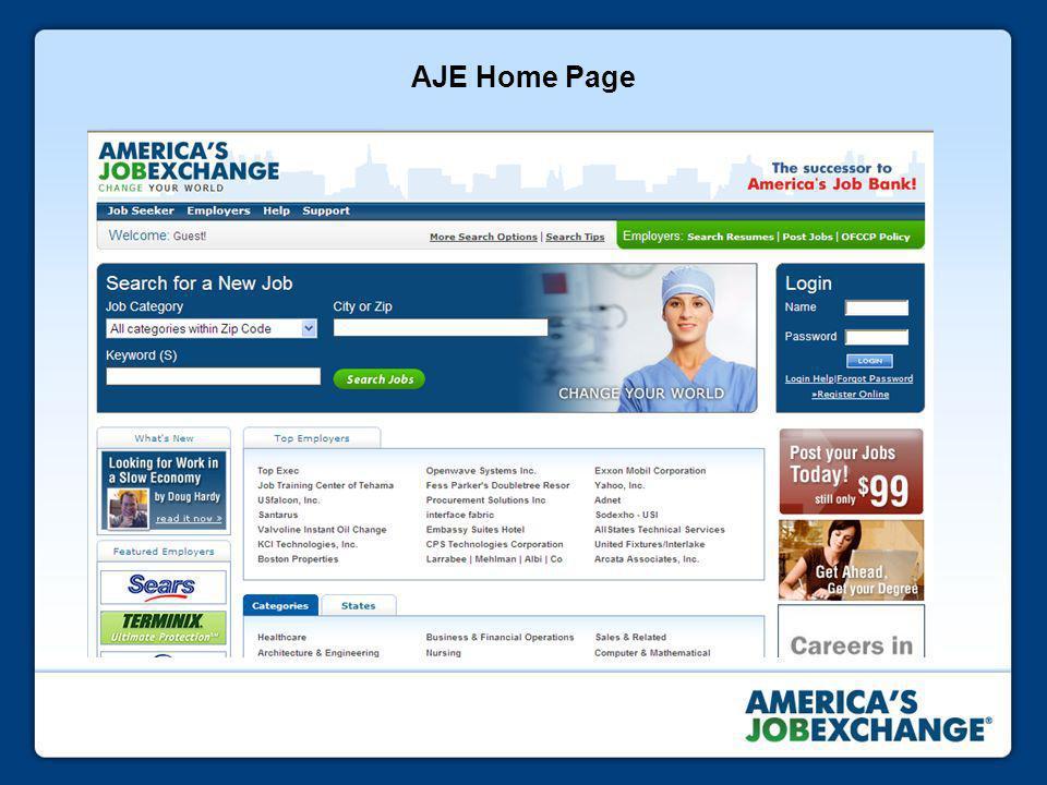 AJE Home Page