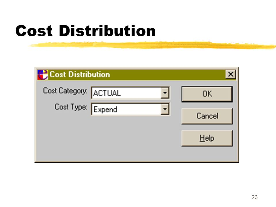 23 Cost Distribution