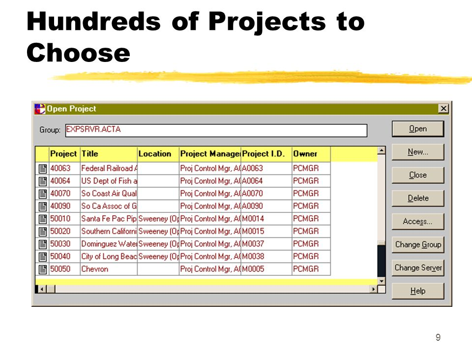 9 Hundreds of Projects to Choose