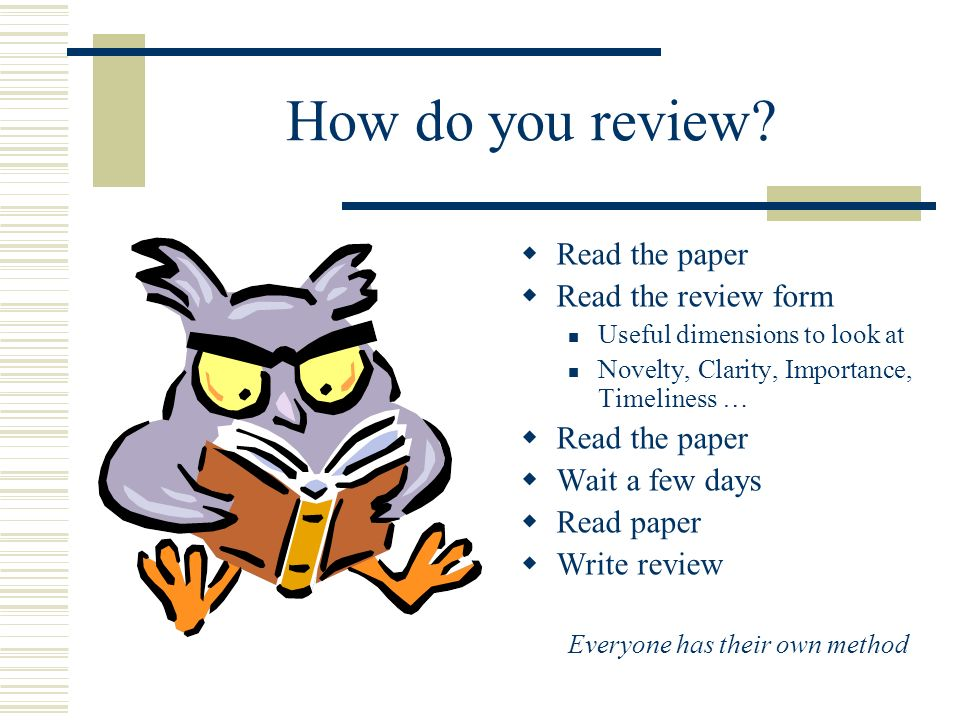 How do you review.