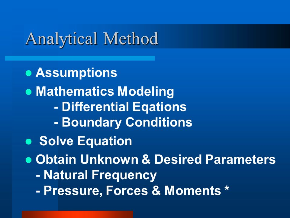 Mass Spring Sys. Equations (Cont...) L=T-U Equation of Motion From Lagrange Method :