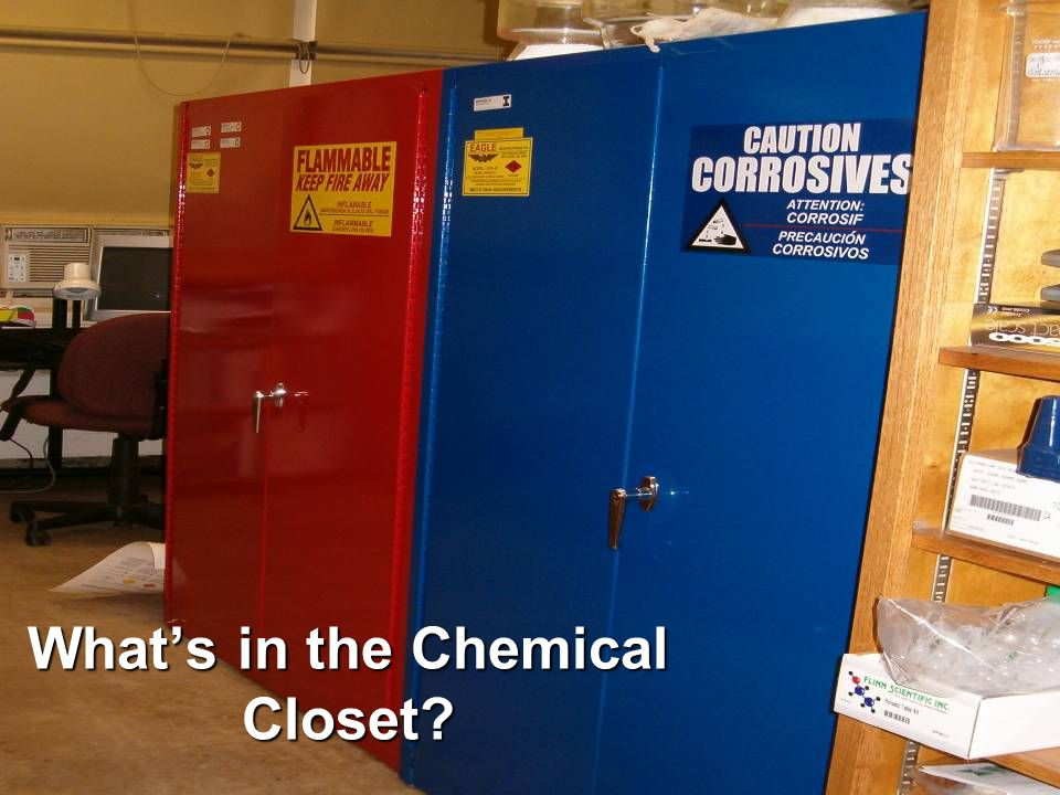 Whats in the Chemical Closet?