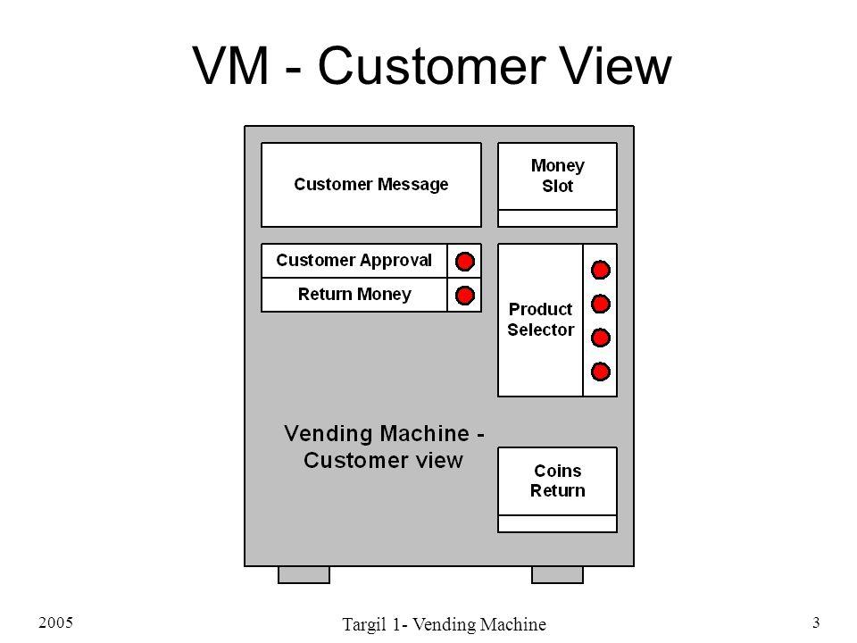 2005 Targil 1- Vending Machine 3 VM - Customer View