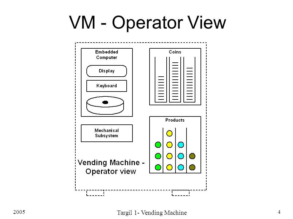 2005 Targil 1- Vending Machine 4 VM - Operator View