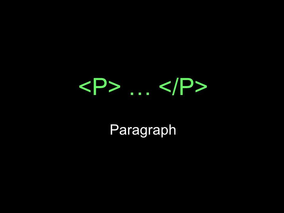 … Paragraph