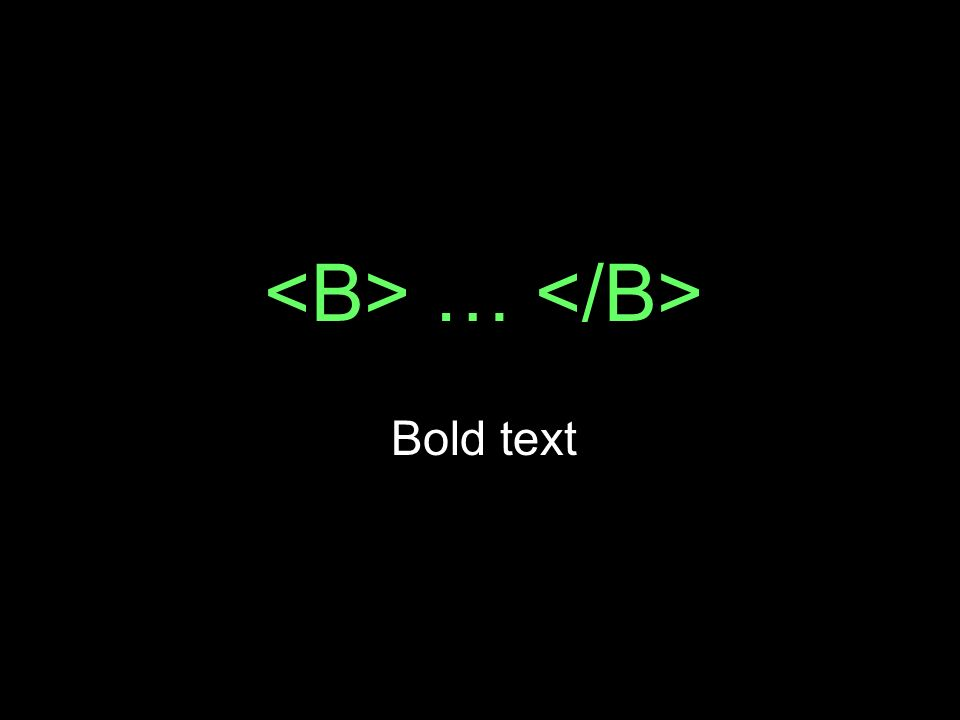 … Bold text