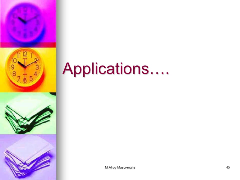 M.Alroy Mascrenghe45 Applications….