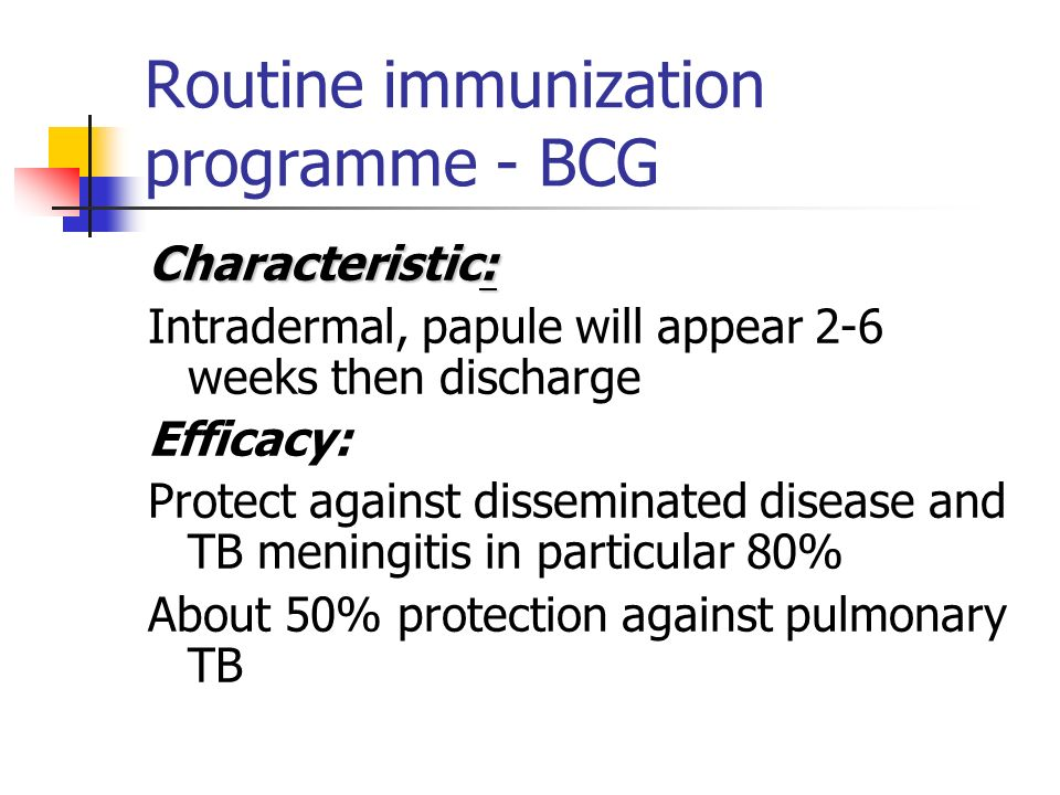 Are they contraindication for vaccination.