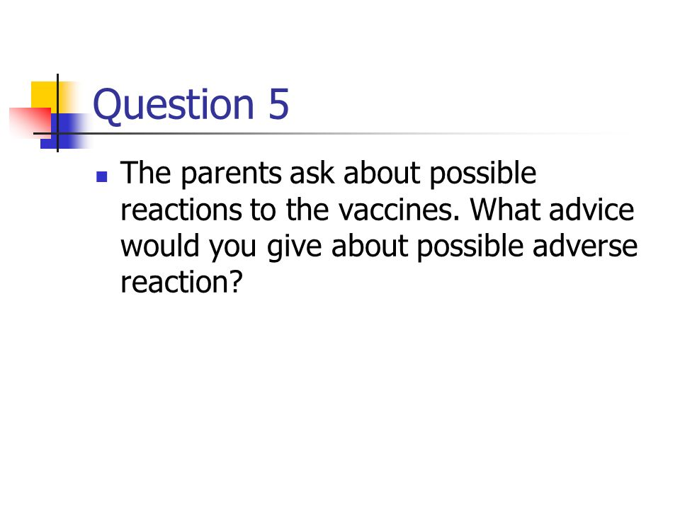 Question 4 Where and how should the vaccination be recorded?