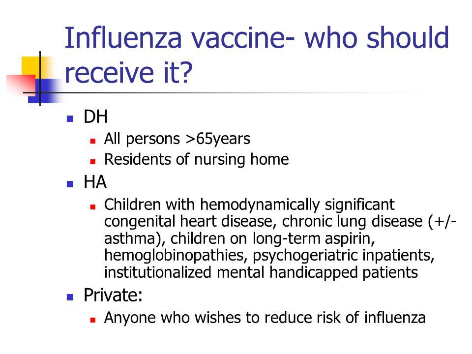 Influenza vaccine- how to use.