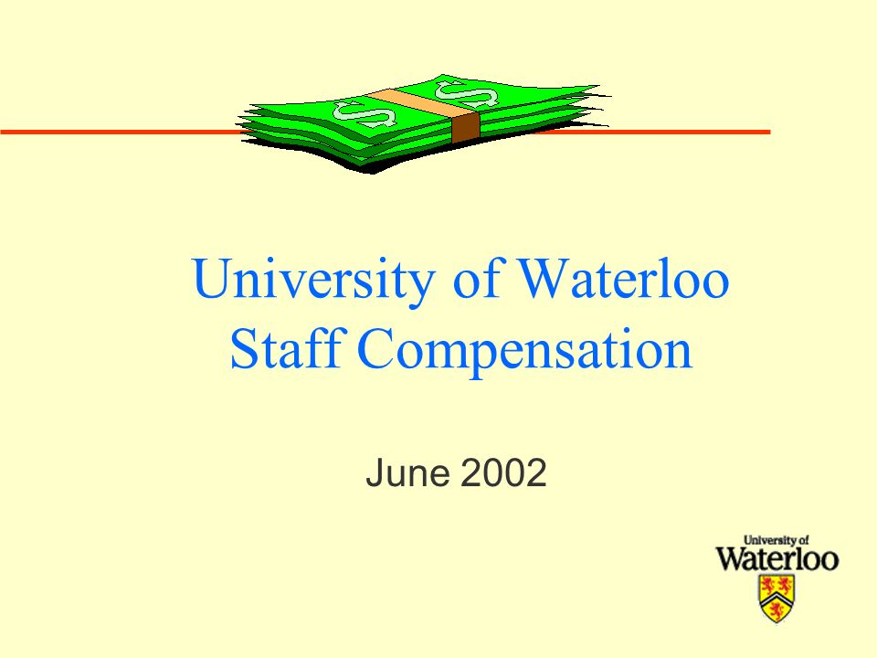University of Waterloo Staff Compensation June 2002