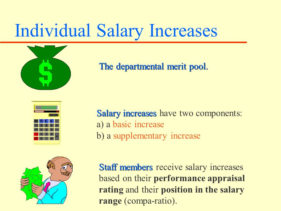 Individual Salary Increases The departmental merit pool.