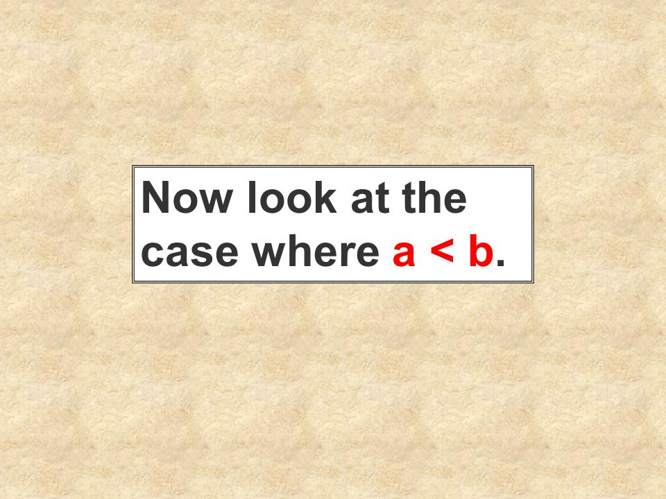 Now look at the case where a < b.