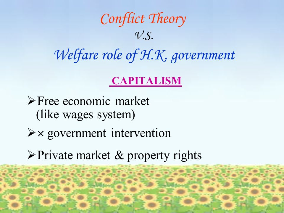 Round 3 Conflict Theory V.S. Welfare Roles of Hong Kong Government