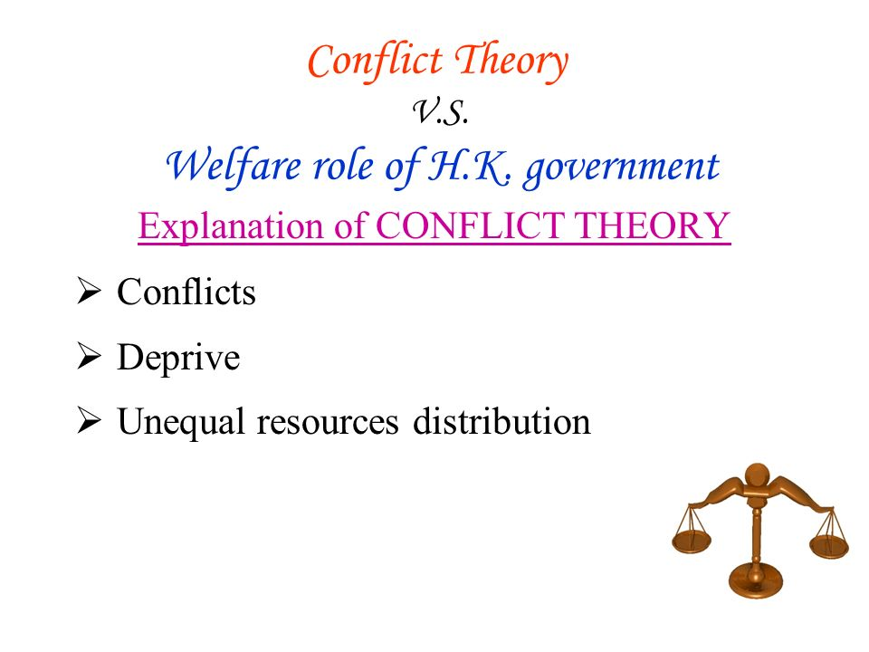 Conflict Theory V.S. Welfare role of H.K.