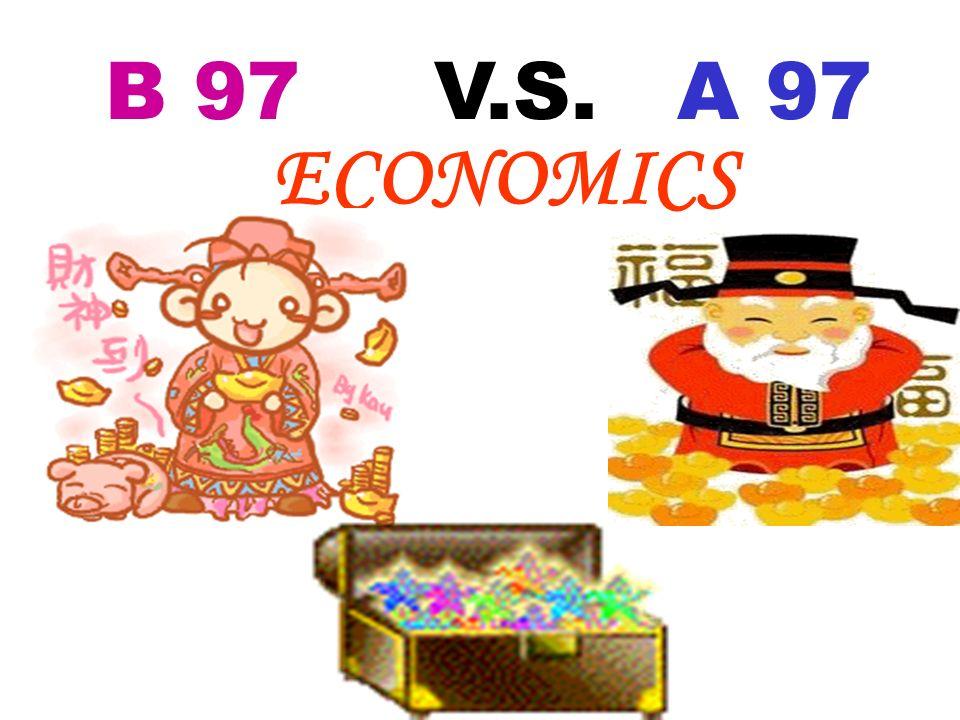 B 97 V.S. A 97 Economics Politics Welfare