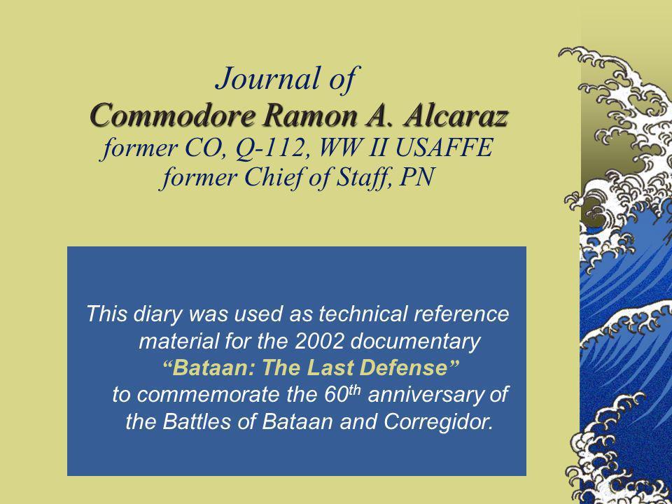 Journal of Commodore Ramon A. Alcaraz May 1941