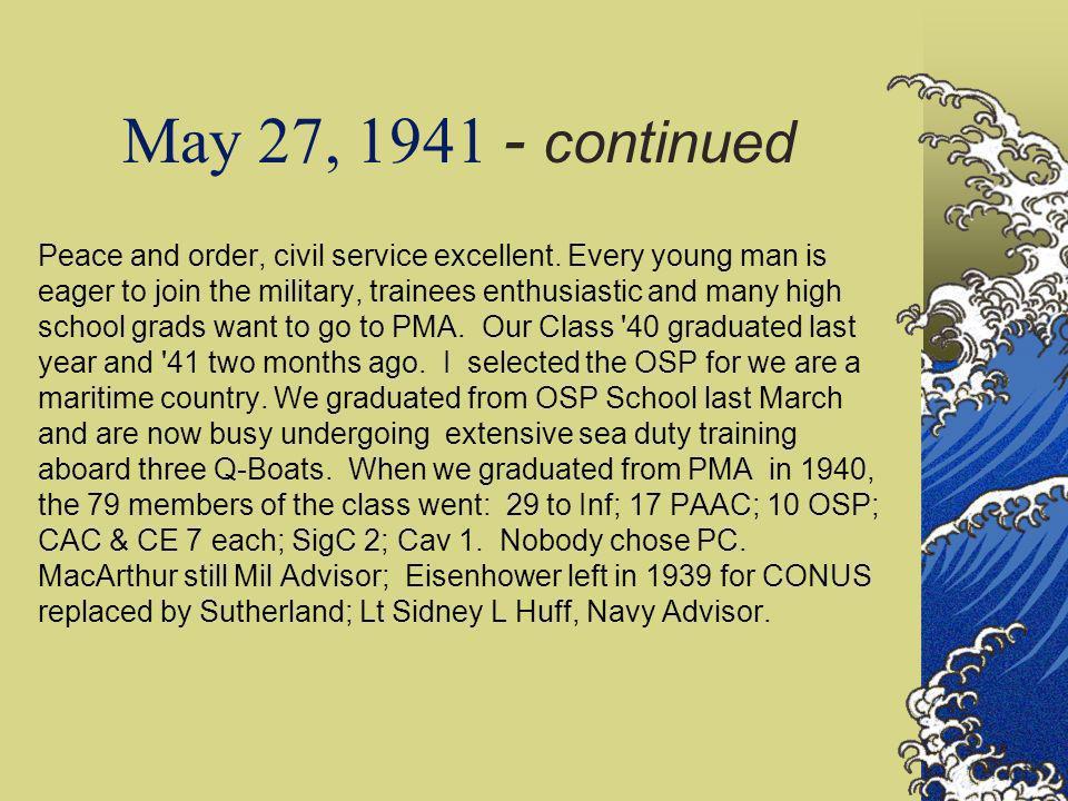 Maj. Gen. Guillermo B Francisco Chief PC, 1938-41 PCA 1908