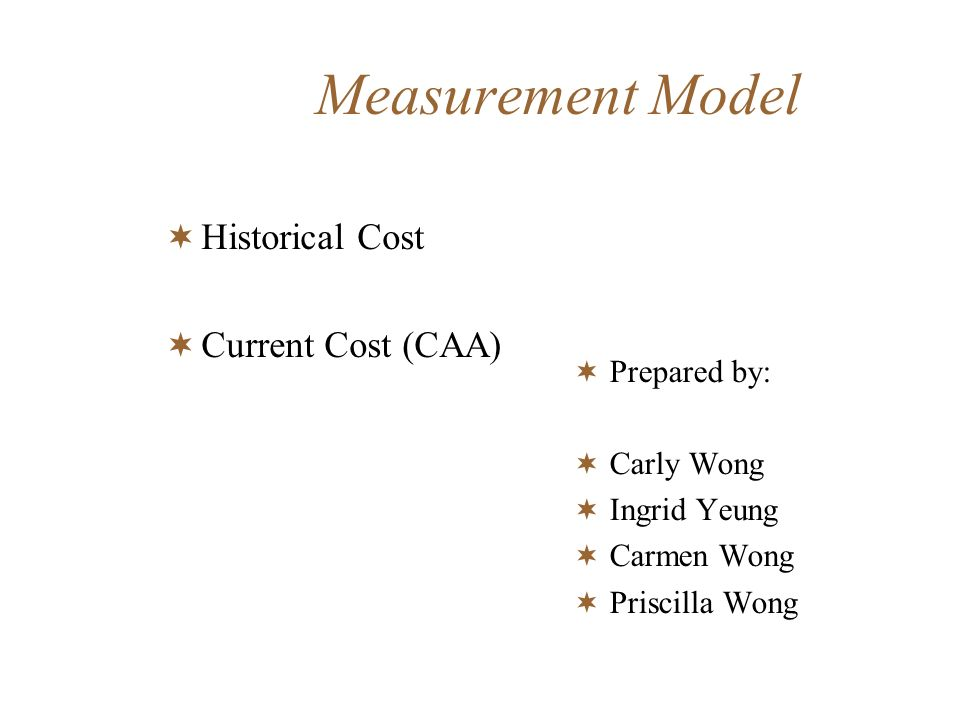 Information for decision making Historical cost=> management needs historical cost data in order to evaluate their past decisions as they contemplate future commitments Past decision was right or wrong must ultimately be ascertained by what happens in the marketplace Historical cost has usefulness, but it is insufficient for the evaluation of business decisions.