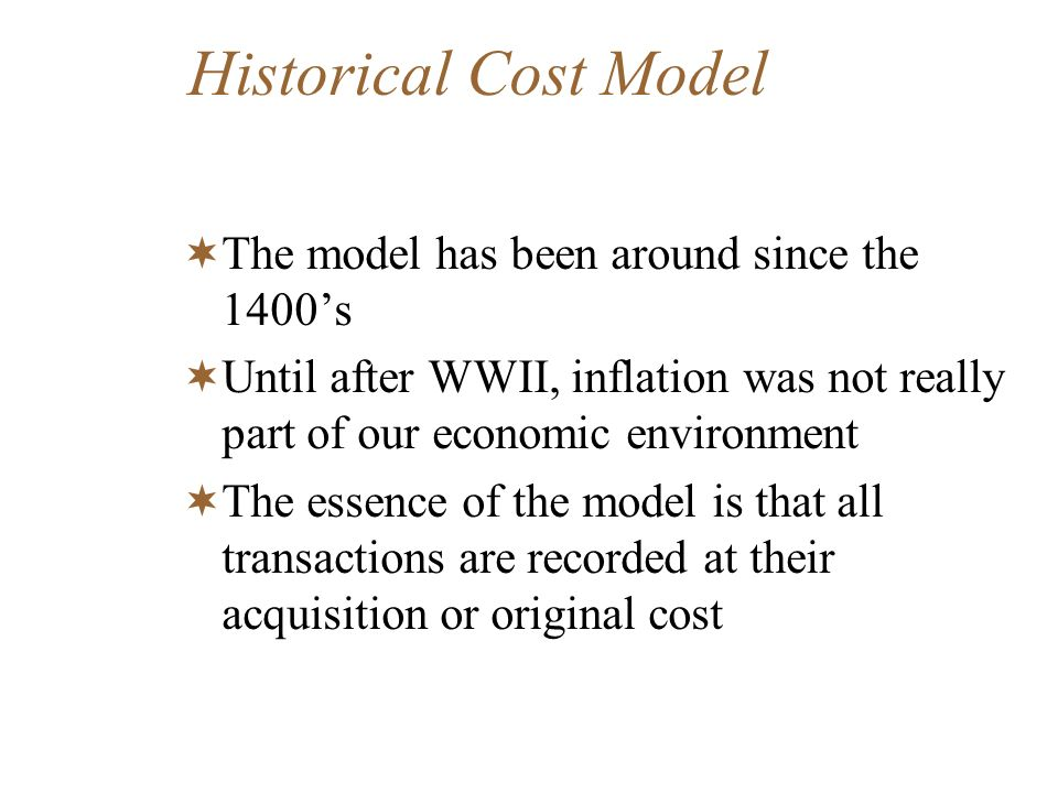Information for decision making (Contd) Historical cost overstated income in a time of rising prices because it offsets historical cost against current inflated revenue.