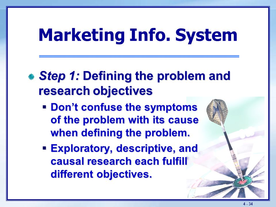 4 - 33 Figure 5-2: The Marketing Research Process