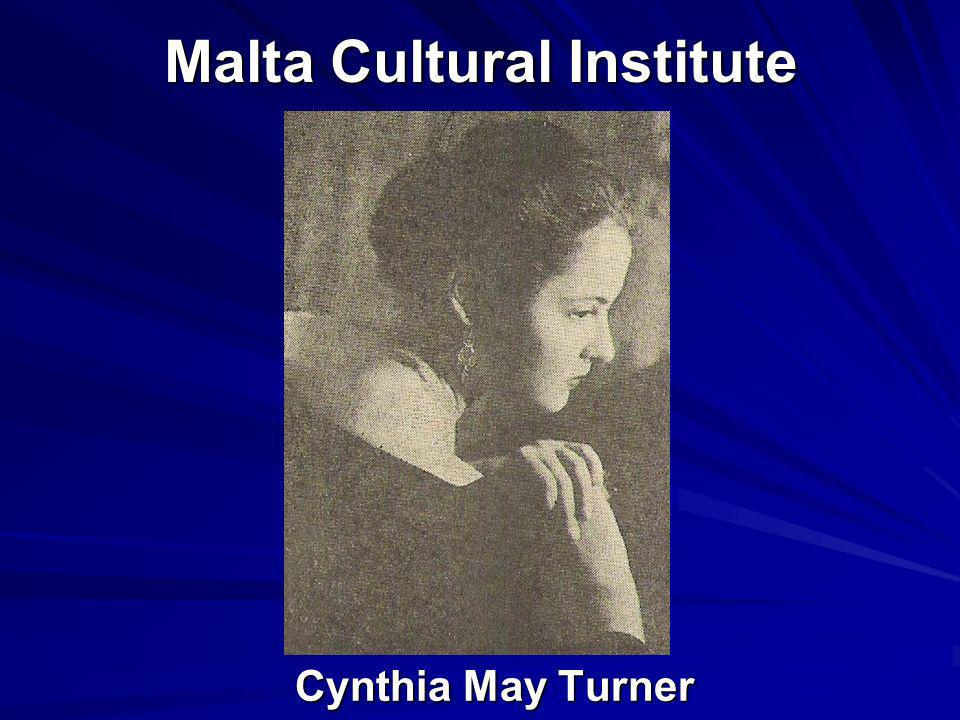 Malta Cultural Institute Cynthia May Turner Cynthia May Turner