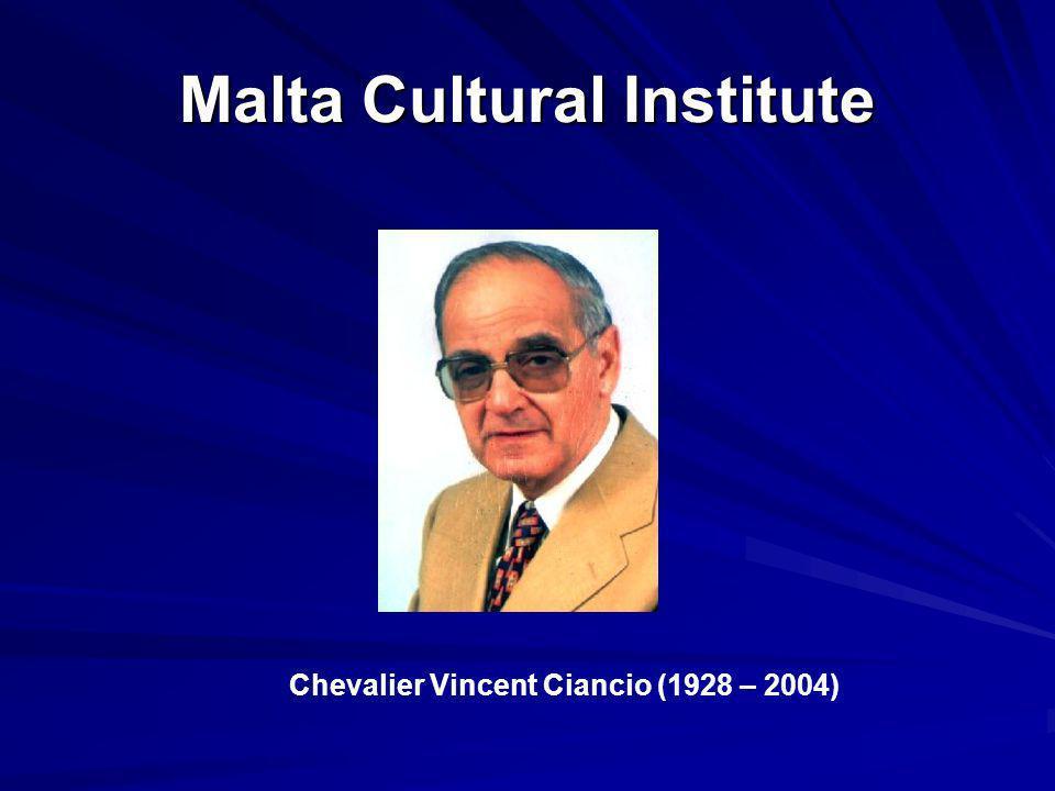 Malta Cultural Institute Chevalier Vincent Ciancio (1928 – 2004)
