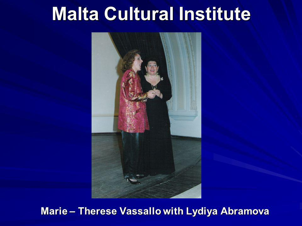Malta Cultural Institute Marie – Therese Vassallo with Lydiya Abramova