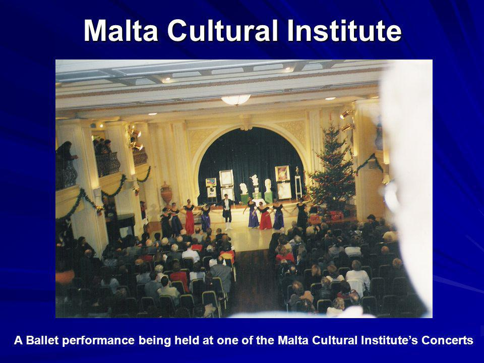 Malta Cultural Institute Malta Cultural Institute A Ballet performance being held at one of the Malta Cultural Institutes Concerts