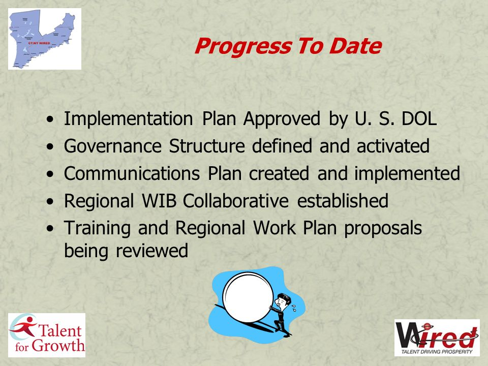 Progress To Date Implementation Plan Approved by U.