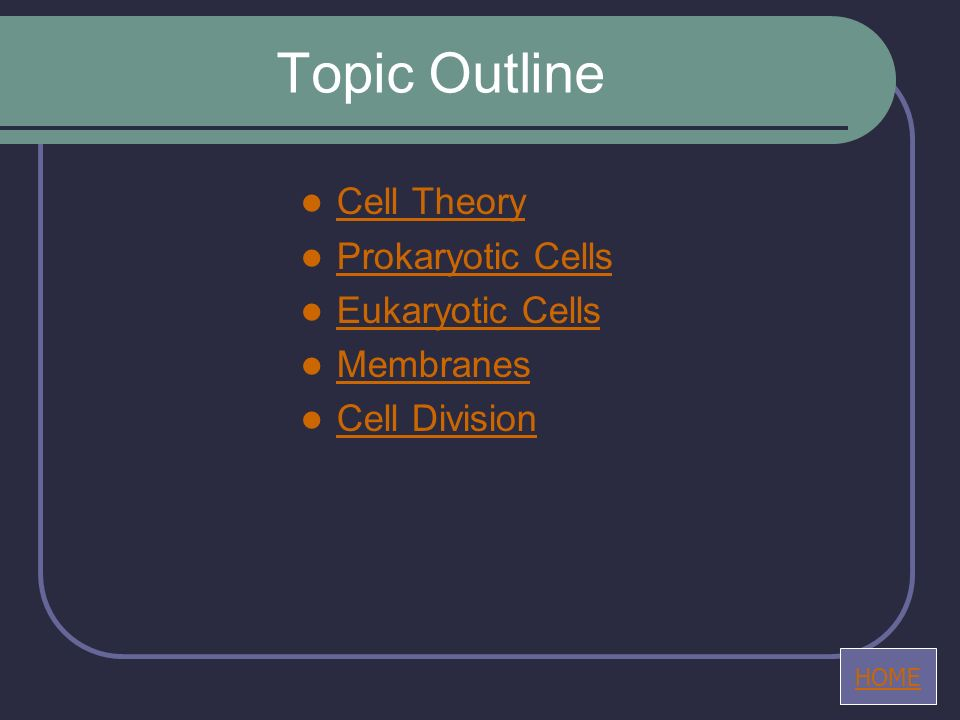 Topic 1.1 - Cell Theory 1.1.1 Discuss the theory that living organisms are composed of cells.