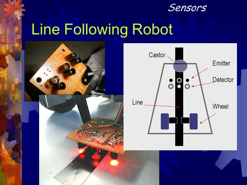 Line Following Robot Emitter Detector Castor Line Wheel Sensors