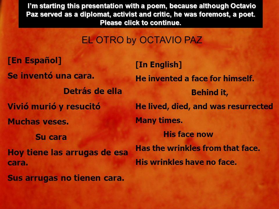 [En Español] Se inventó una cara. Detrás de ella Vivió murió y resucitó Muchas veses. Su cara Hoy tiene las arrugas de esa cara. Sus arrugas no tienen