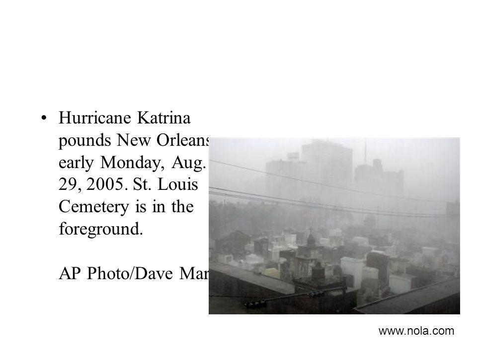 Hurricane Katrina pounds New Orleans early Monday, Aug.